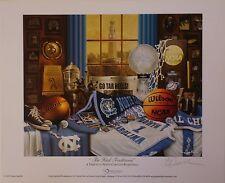 """North Carolina Basketball """"Tar Heel Traditions"""" print signed by Greg Gamble"""