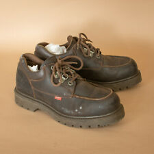 Levi's Brown Laced Leather Work Boots Shoes Vintage Men's UK 9 EUR 43 US 10