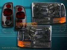 99-04 FORD F250 F350 SUPER DUTY HEADLIGHT SMOKE+ CORNER SMOKE + TAIL LIGHT SMOKE