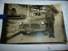 Ancienne Photographie Automobile Militaire Armée Americaine U.S Military CaR WW2