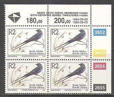 RSA 1993 Blue Swallow/Birds/Nature/Wildlife 1994 rprnt 1v c/b (za10045)
