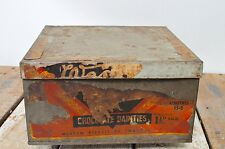 Vintage Large Weston Ltd Biscuit Chocolate Dainties Advertising Tin Display