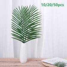 50x Artificial Big Palm Leaves Plastic Fake Plant Tree Home Office Wedding Decor