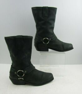 """Ladies Zodiac """" Omni """" Black - Green Leather Ankle Boots Size : 7 M"""
