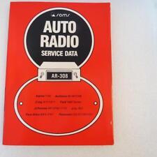 Sams AR-308 Auto Radio Service Data 1980 1st Edition Description has Models