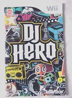 60105 Instruction Booklet - DJ Hero - Nintendo Wii (2009) RVL-SWAP-EUR