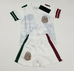 Mexico Kid's Soccer Jersey Futbol Jersey And Shorts White Color
