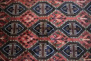 3'8 x 6'9 Nomadic Carpet All Over Design Top Quality Handmade Wool Area Rug 4x7