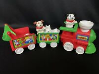 Fisher Price Little People Christmas Holiday Train & Puppy Dog W/ Red Scarf