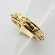 RR2015 Rosary Ring 14K 18K Solid Gold ロサリオ リング