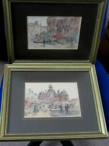 2 Original Watercolours of St Servan France by A. M.Williamson 78
