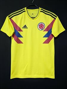2018-19 Colombia Home Jersey Soccer Shirt S(Japan Size)