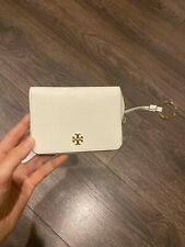 TORY BURCH AUTHENTIC KEYRING CARD CASE/WALLET IN OFF-WHITE EXCELLENT CONDITION