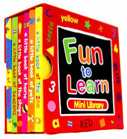 FUN TO LEARN MINI LIBRARY RED SET 6 PRESCHOOL EDUCATIONAL BOOKS INC ANIMALS 1710