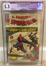 AMAZING SPIDER-MAN #23 CGC 5.5 3RD APPEARANCE OF GREEN GOBLIN PIN-UP JIM SHOOTER