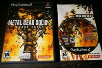 Metal Gear Solid 3 Snake Eater PS2 (Sony PlayStation 2, 2004) Complete CIB