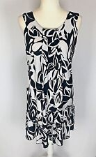 Carole Little Women's Dress Black  White Floral Print Size 6 Soft and Stretchy