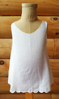 Vintage 1950s Baby Girls Slip Dress, Hand Embroidered White Work, About 6m Size