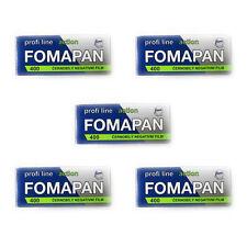 5 Rolls x  FOMAPAN 400 Profi Line Action 120 Medium Format  B&W Film  by FOMA