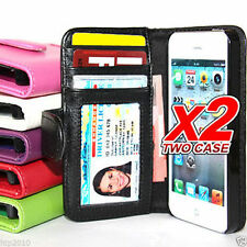 Apple iPhone 5 5G 5S Slim Wallet Credit Card Flip Leather Pouch Case Cover AU
