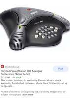 Polycom Voice Station 300 Desk Phone SoundStation Conference Telephone NO BOX
