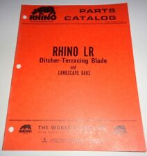 Rhino LR Ditcher Terracing Blade Parts Catalog Manual Book Original  Servis
