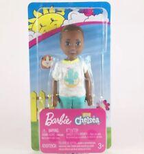 Barbie Club Chelsea Boy Doll, African American, Cactus Top, FHK94