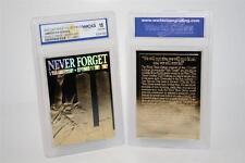 WORLD TRADE CENTER 9/11 First Anniversary 2002 Gold Card - Graded GEM MINT 10