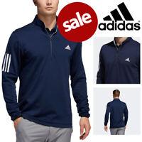 Adidas 3 Stripe Mid Weight Men's Golf Sweater Collegiate Navy - NEW! 2020