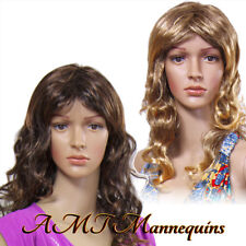 Long curly,2 full wigs for halloween and mannequins,  2 synthetic wigs-Y21+Y14