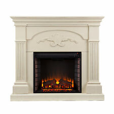 MFP57029 IVORY CARVED FRONT ELECTRIC FIREPLACE