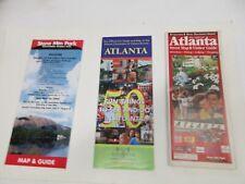 3 Atlanta entertaniment maps 2001 Street, 2003 Things to Do, 2004 Stone Mtn