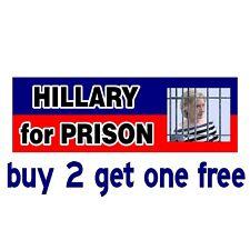 Hillary for Prison 2020 Bumper Sticker - Conservative Political - GoGoStickers