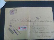 Nederland 160 op gevouwen aanget. brief afd. Zegelverkoop Den Haag - Wenen