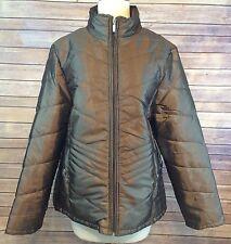 NWT Jane Ashley Bronze Metallic Brown Lightweight Puffy Jacket Plux Size 1X