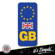 GB NUMBER PLATE STICKER WITH UK FLAG For Motorcycles Motorbikes EU Euro European