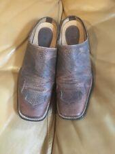 Ariat Tabitha Women Brown Western Mules Slip On Shoe Square Toe 8.5 B Clog