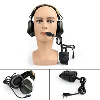 1Pcs Tactical H60 Noise-Reduction Sound Pickup Headset Peltor PTT For Kenwood