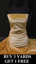 Premium Heavy Gold Pure Velvet Lycra 4 Way Stretch Dress-making Fabric Material