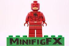 Lego DAREDEVIL Custom Printed Minifig Marvel Superhero Matt Murdock Defenders