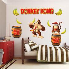 Donkey Kong Mario Wall Decal Stickers Game Bedroom Wall Murals, Nintendo, n88