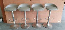 More details for 4 x bar stools  kitchen pub low back breakfast bar chair leg chrome.