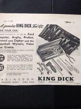 492 Ephemera 1955 Asvert King Dick Tool Kit Abingdon Tyseley Birmingham