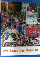 RARE 1993 MONTREAL CANADIENS STANLEY CUP ADVERTISING PARADE POSTER