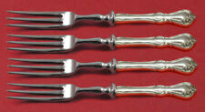 """Rose Cascade by Reed and Barton Sterling Silver Fruit Fork Set 4-piece Custom 6"""""""