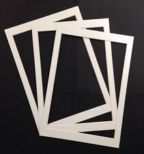 3 X A4 Picture Mount To Fit Vintage 7.5 X 10.5 Inch Dictionary Page Prints White