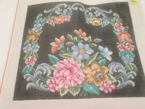 FLORAL-TREGLOWN-HANDPAINTED NEEDLEPOINT CANVAS