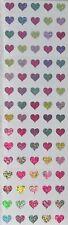 Mrs Grossman`s HEARTS MICRO PASTEL GLITTER Sparkle 2018 Stickers