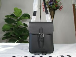 NWT Coach Pebble Leather Small Hudson Crossbody Bag 1309 Black