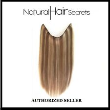 """Natural Hair Secrets 8/24 Brown Blonde 18"""" Flip In Human Remy Hair Extensions"""